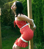 Sexiest dumsels get tied up