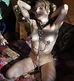 Cuffed, chained, clamped, roped and fucked