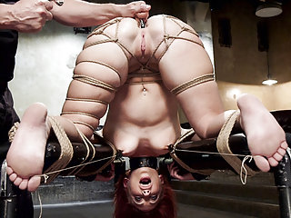 Her first anal sex in tight bondage