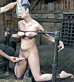Caged, cuffed, dildoed, hooded and teased