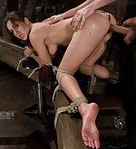 Kiere gets fucked in bondage