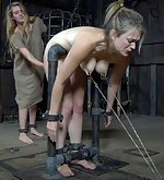 Girls cuffed and punished hard in female prison