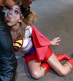 Superheroines defeated restrained, and fucked mercilessly