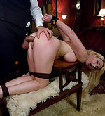 She is humiliated, punished and fucked in the ass