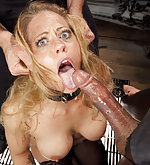 Hot blonde milf gets roped, strapped and fucked