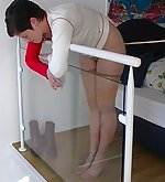 Brunette gets punished hardly
