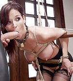 Housewife gets trained and fucked in bondage