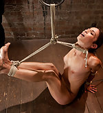 Tightly roped, foot caned, suspended and vibed