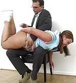 Guilty girl gets punished hardly