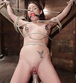 Crotch ropes, nipple clamps, flogging, tight bondage, orgasms