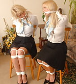Cute secretaries in office bondage
