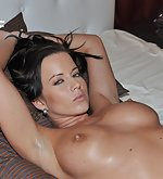 Cindy tied fully spread on the bed
