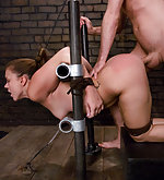 Girl with nice ass fucked in bondage