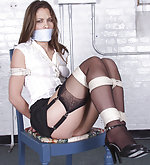 Anna tied with ropes and otm-gagged