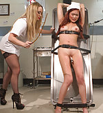 Night nurse is ass fucked and fisted by psycho lesbian