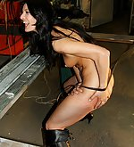 Serious female whipping punishment in the dirt