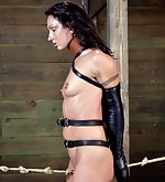 Bound with leather, whipped, vibed, pounded