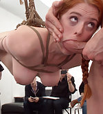 Model gets roped and fucked in public art class