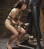 Roped, suspended, chained, trained to suck