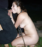 Sexy prisoner gets caged, cuffed, used and fucked