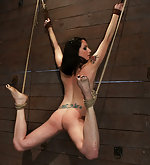Brutal back & ass flogging, wrist suspension
