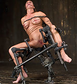 Cuffed, chained, clamped, vibed, machine fucked