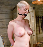 Blond beauty gets strapped, pegged and fucked