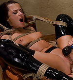 Naughty french maid is punished and strap-on fucked
