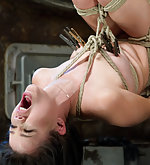 Roped, made to suffer and endure orgasms against her will