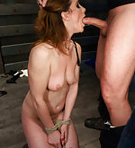 Hard bondage, painful corporal punishment, anal sex