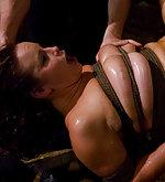 Gorgeous slave slut fucked on a waterboard