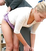 Blonde gets spanked hardly