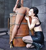 Tightly roped, hooded, tied to the barrel, plugged
