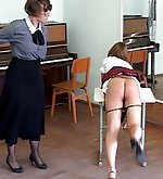 Schoolgirl punished by teacher