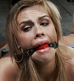 Blonde gets pussy fucked while bound and helpless