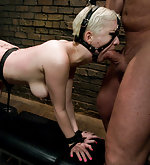 Cherry fucked and dominated in latex and bondage