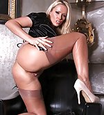 Lucy zara in silk blouse and sexy lingerie