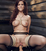 Tight rope bondage and brutal reverse cowgirl anal fucking
