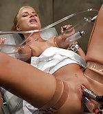 table Women bondage examination
