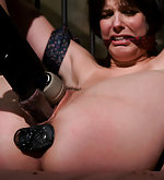 Bobby stripped, tightly bound and vibed