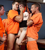 University student gets bound and fucked by prisoners